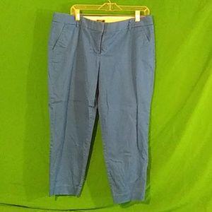 J crew sz 14 blue city fit stretch pants
